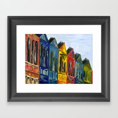 Rainbow Row Framed Art Print