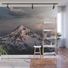 Mountain Sunset - Mount Hood Nature Photography Wall Mural