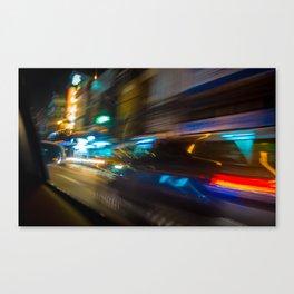 Bangkok Traffic Blur Canvas Print