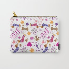 Doxie Puppy Love Pattern Carry-All Pouch