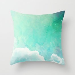 Cloud sky pattern Throw Pillow