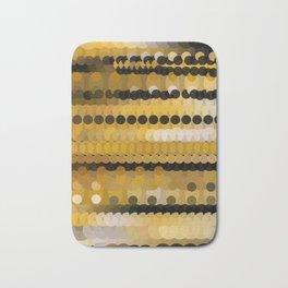 HONEY bright gold and black abstract honeycomb design Bath Mat