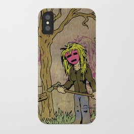 Little Grave Digger Girl iPhone Case
