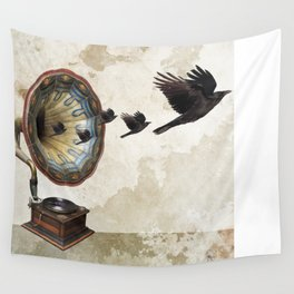the sound of crows Wall Tapestry