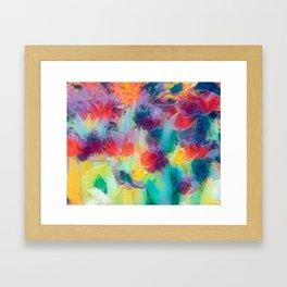 Pastels Tulips Framed Art Print