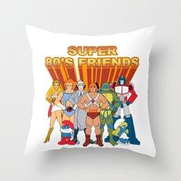 super 80s friends Throw Pillow