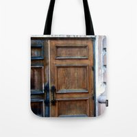 doors Tote Bags featuring Doors by Jessica Jimerson