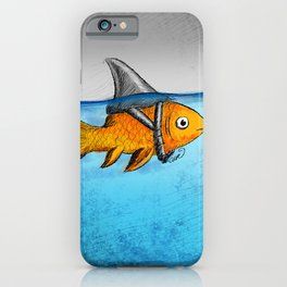 Attitude is everything–Goldfish with Shark fin iPhone Case
