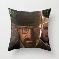breaking bad Throw Pillows featuring Breaking Bad by SB Art Productions