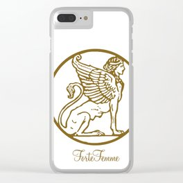 ForteFemme logo Sphinx Clear iPhone Case