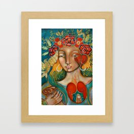 beautiful girl Framed Art Print
