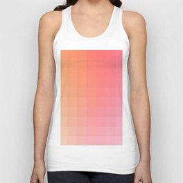 Lumen, Pink and Orange Light Unisex Tank Top