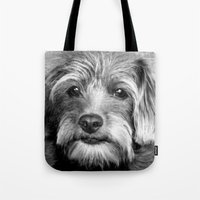 coco Tote Bags featuring COCO by KarenHarveyCox