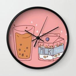 Pink Doodles Wall Clock