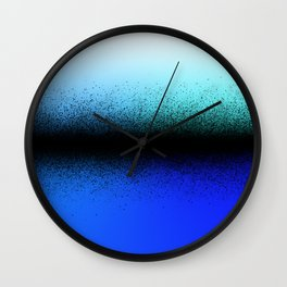 Black Dust on Blue Wall Clock