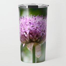 Purple Allium Flower Travel Mug