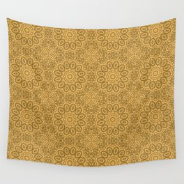 Mustard color ornament Wall Tapestry