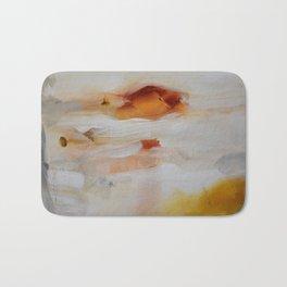 Orange gold painting print Bath Mat