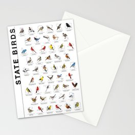 50 State Birds (White) Stationery Cards