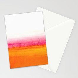 Orange Solar Sunset acrylic painting Stationery Cards
