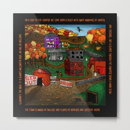 Halloween Dream Town Metal Print