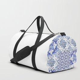 Azulejo VIII - Portuguese hand painted tiles Duffle Bag
