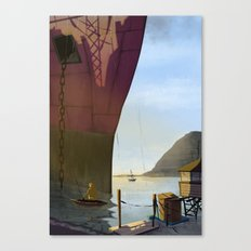 ANGRY FISHER Canvas Print