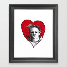 Micheal Myers (All Heart) Framed Art Print