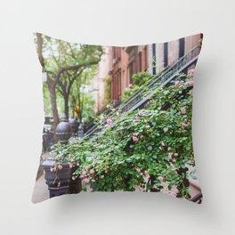 West Village Summer Blooms Throw Pillow