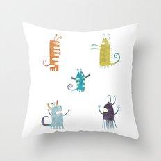 Secretly Vegetarian Monsters Throw Pillow