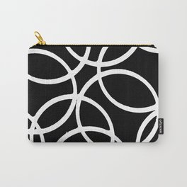 Interlocking White Circles Artistic Design Carry-All Pouch
