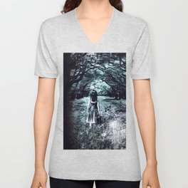 A scary unknown by GEN Z Unisex V-Neck