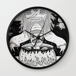 Jumped out the sorcerers cauldron. Wall Clock