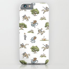 Knights and Dragons iPhone Case