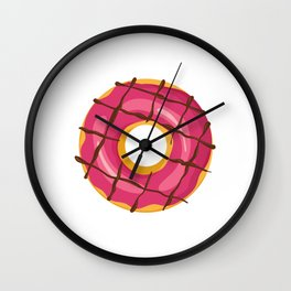 """Great Baking Design For Bakers T-shirt Design """"Donuts"""" Fork Knife Cherry Icing Cake Dessert Buttons Wall Clock"""