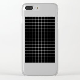 Mesmerising black and white plaid pattern Clear iPhone Case