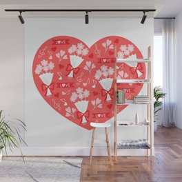 Valentines Day Heart #4 - Cupcakes and Love Wall Mural