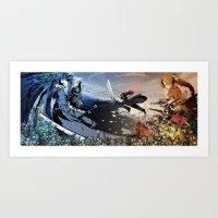 final fantasy Art Prints featuring Final Fantasy VII by Alpha