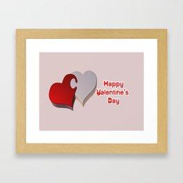 Valentine's Puzzle Framed Art Print
