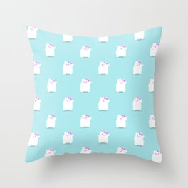 Hello Cub pattern Throw Pillow