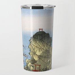 Hiroshige - 36 Views of Mount Fuji (1858) - 27: Futami Bay in Ise Province Travel Mug