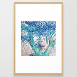 Joshua Tree VGBlue by CREYES Framed Art Print