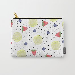 Fruit Print Carry-All Pouch