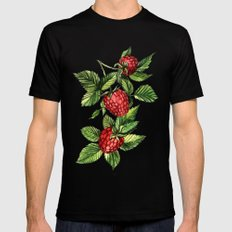 Raspberries Black MEDIUM Mens Fitted Tee
