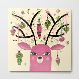 ANTLER ADORNMENTS Metal Print