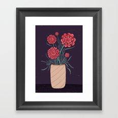 Red Carnations Framed Art Print