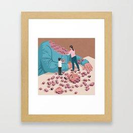 Broken soul Framed Art Print