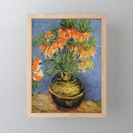 Vincent Van Gogh Imperial Fritillaries in Copper Vase 1887 Framed Mini Art Print