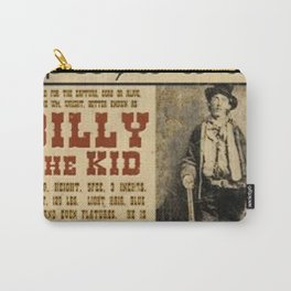 Billy The Kid Mug Shot Wanted Poster Mugshot West Cowboy Vintage Carry-All Pouch