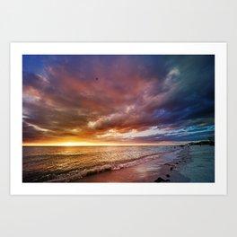 After the Sun Sets Art Print